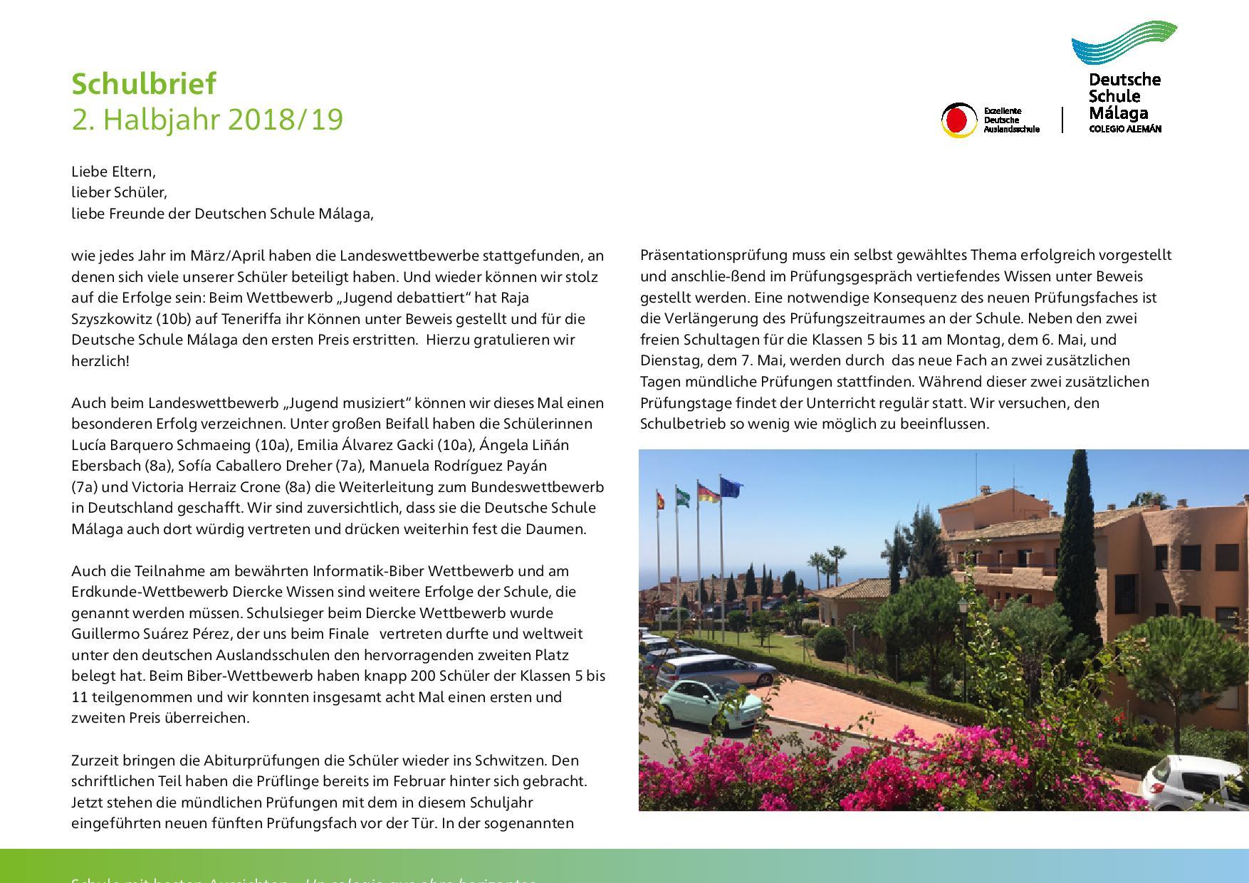 Deutsche Schule Málaga Start